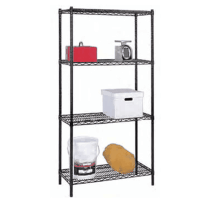 Black Coated Wire Shelving